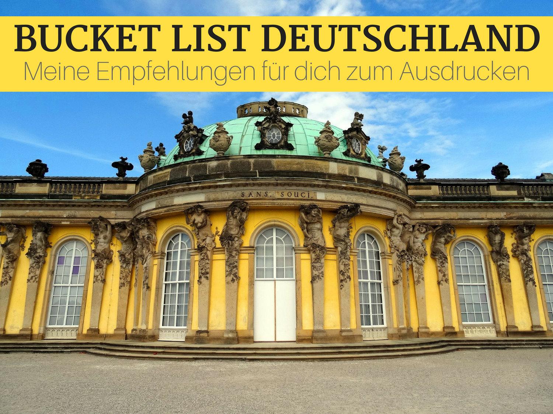 Bucket List Deutschland - Meine Empfehlungen für dich zum Ausdrucken