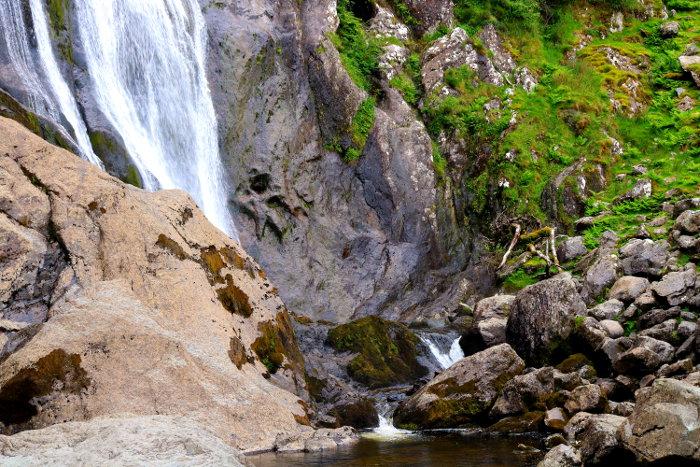 Reiseroute Wales Aber Falls