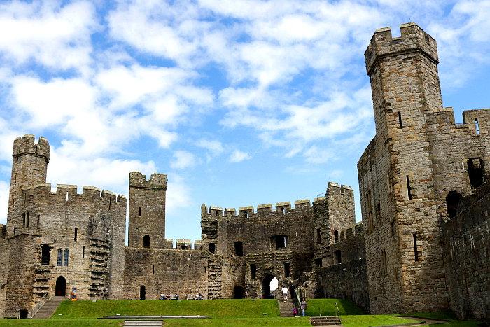 Reiseroute Wales Caernarfon Castle
