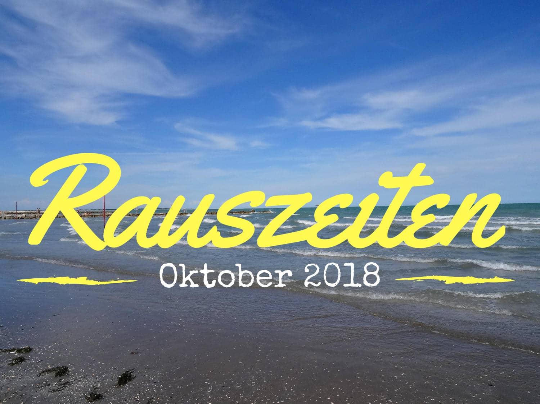 Rauszeiten im Oktober 2018